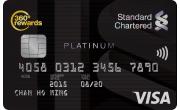 白金信用卡的卡面