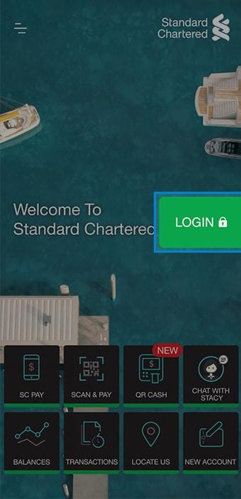 Standard Chartered Digital Banking Registration - SC Mobile Version Step 1