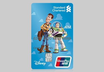 Toy Story Woody and Buzz Lightyear ATM Card