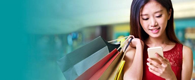 用電子錢包精明購物