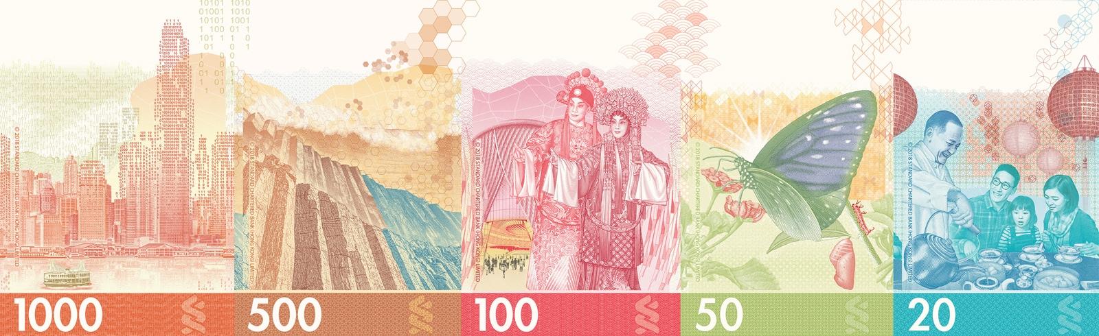 Hk banknotes series lion rock
