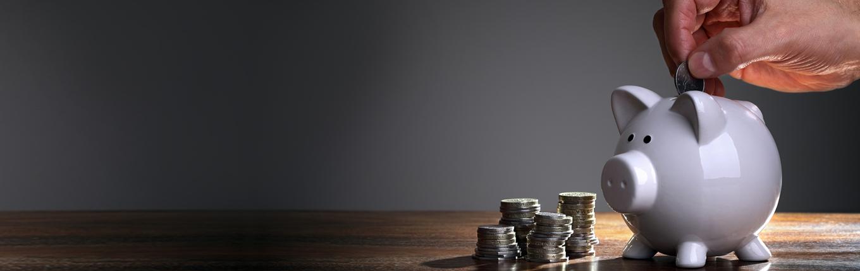 in savings