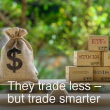 They trade less