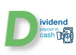 dividend payout in cash