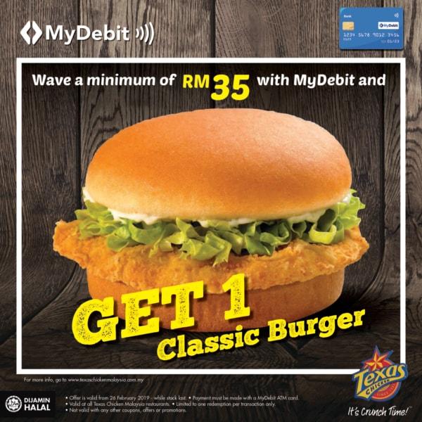 Tc mydebit burger offer