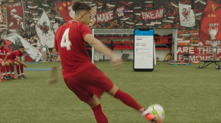 LFC player scoring a goal