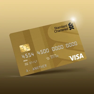 Gold debit card