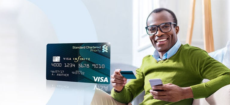 Man excited about privileges through Naira VISA Debit Card.