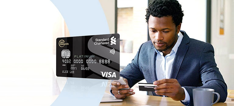 Man enjoying higher spending limits of Visa Platinum Debit Card.