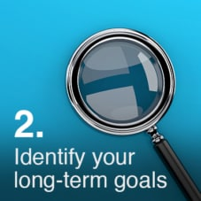 Identify your long-term goals