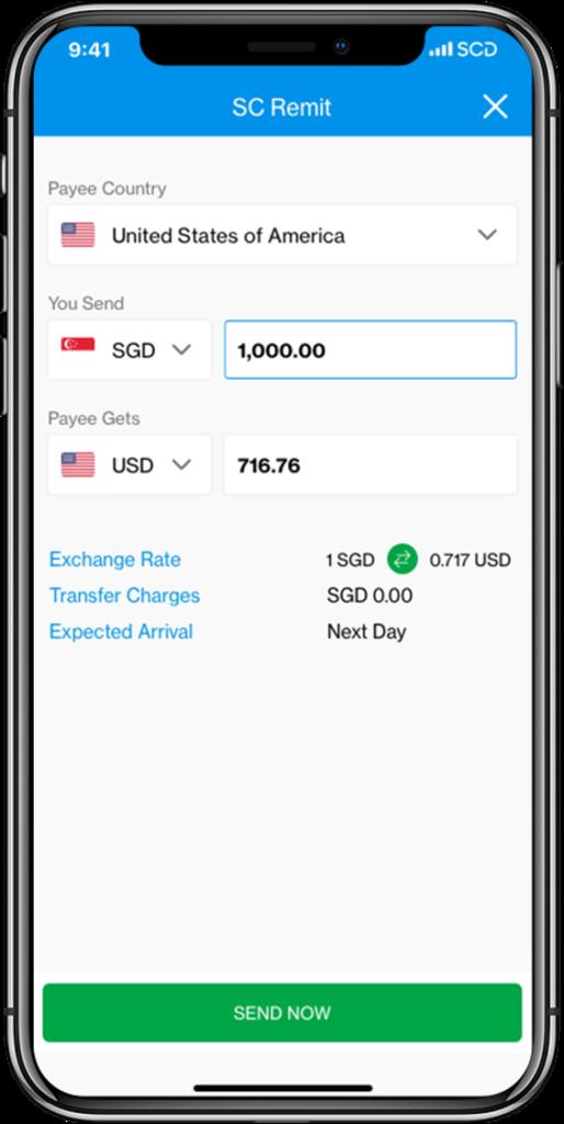 Transfer Money Overseas Online Remittances Standard Chartered Singapore