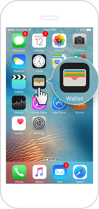 iPhone Wallet app