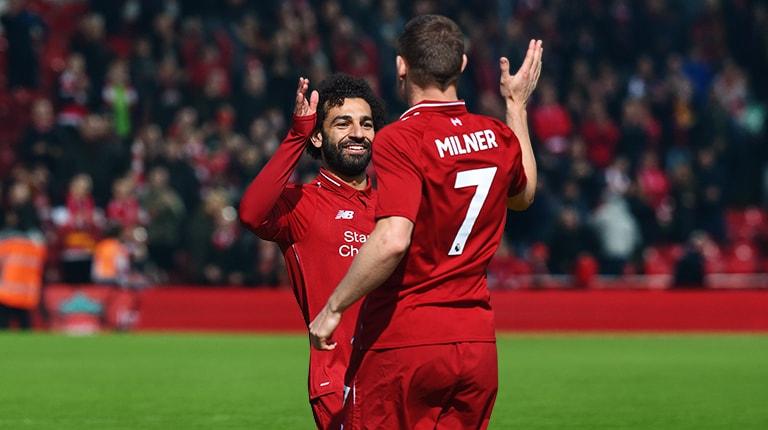 Salah kicking the ball