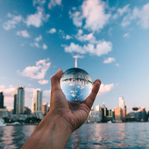 Stock photo the world in the palm of your hands