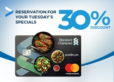 Reservation for your Tuesday's specials