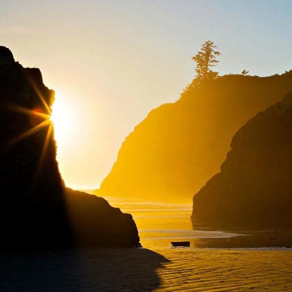 Travel sunset mountain scenic peaceful calm