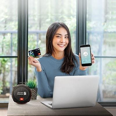 Enjoy music with JBL Bluetooth Speaker