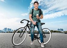 Enjoy unlimited CashBack plus a free trendy bike